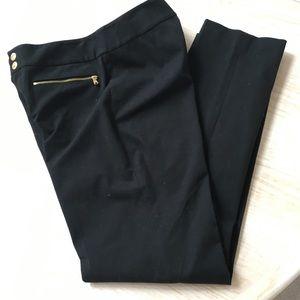 Black Ralph Lauren pant with gold zipper detail 4